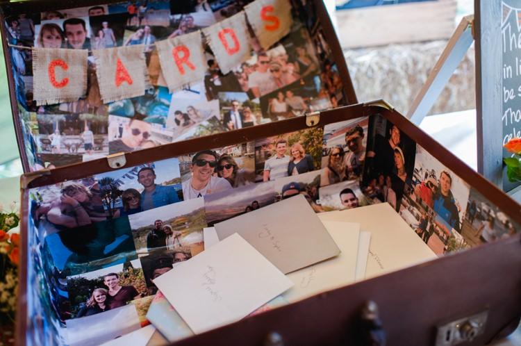 Card Suitcase Festival Tipi Bluebell Woods Wedding http://alexa-loy.com/