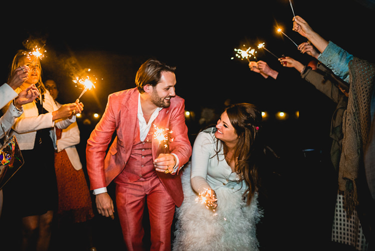 Sparklers Whimsical Jurassic Park Outdoor Wedding http://barneywalters.com/