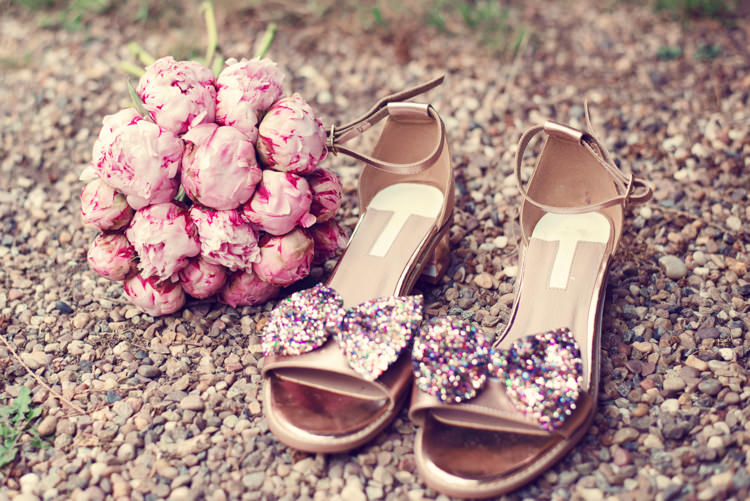 Glitter Bow Shoes Bride Bridal Rainbow Mismatched Kids Party Wedding  http://www.jessicaraphaelphotography.com/