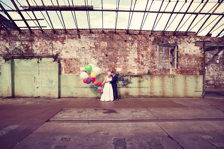 Balloons Up Bride Groom Rainbow Mismatched Kids Party Wedding  http://www.jessicaraphaelphotography.com/