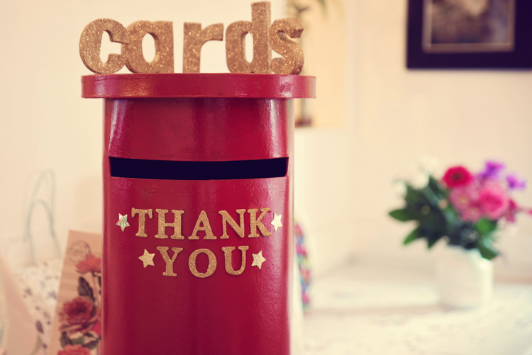 Card Postbox Rainbow Mismatched Kids Party Wedding  http://www.jessicaraphaelphotography.com/