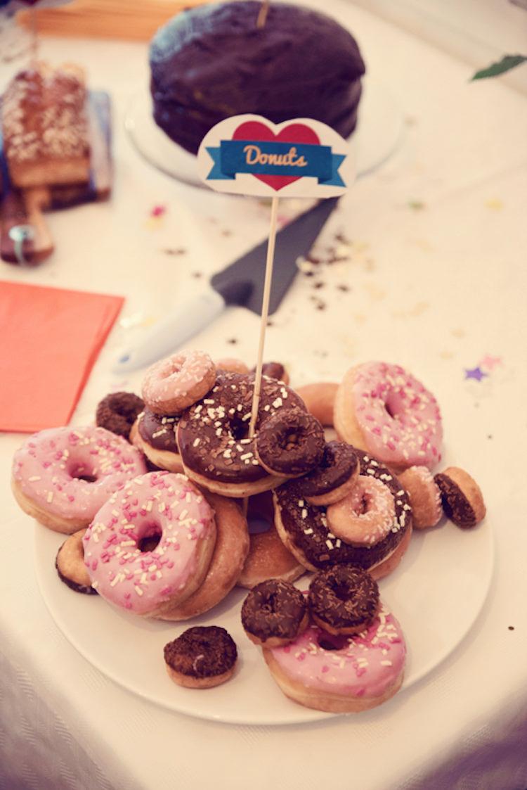 Donuts Rainbow Mismatched Kids Party Wedding http://www.jessicaraphaelphotography.com/