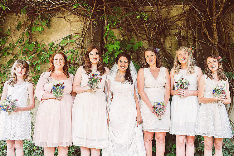 Mismatched White Bridesmaids Dresses Pretty Relaxed Country Hand Made Wedding http://lemonadepictures.co.uk/