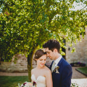 Rustic Dusky Pink & Gold Picnic Marquee Wedding