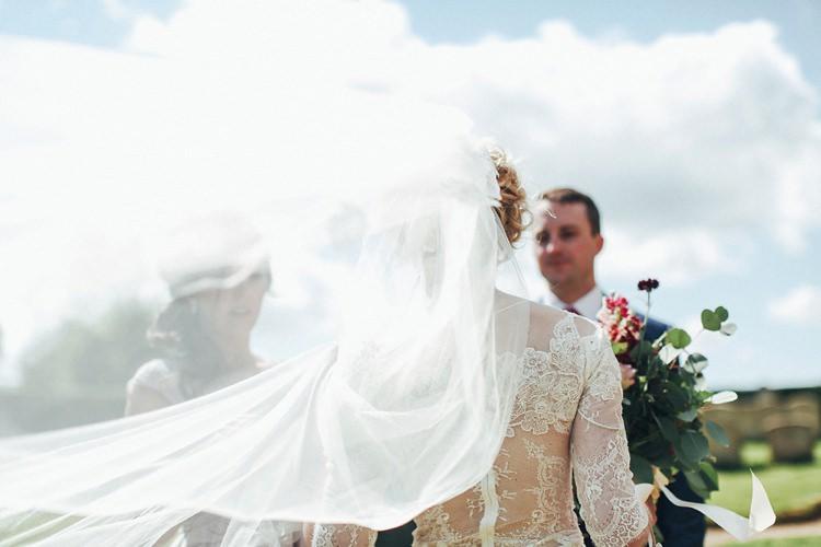 Veil Bride Bridal Beautiful Pink Gold Gin Wedding http://jesspetrie.com/