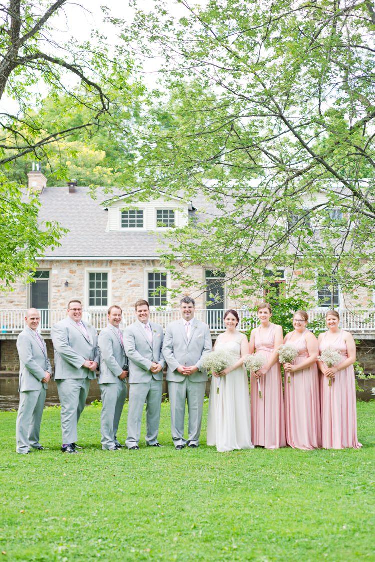Romantic Pink Amp Grey Outdoor Wedding In Ontario