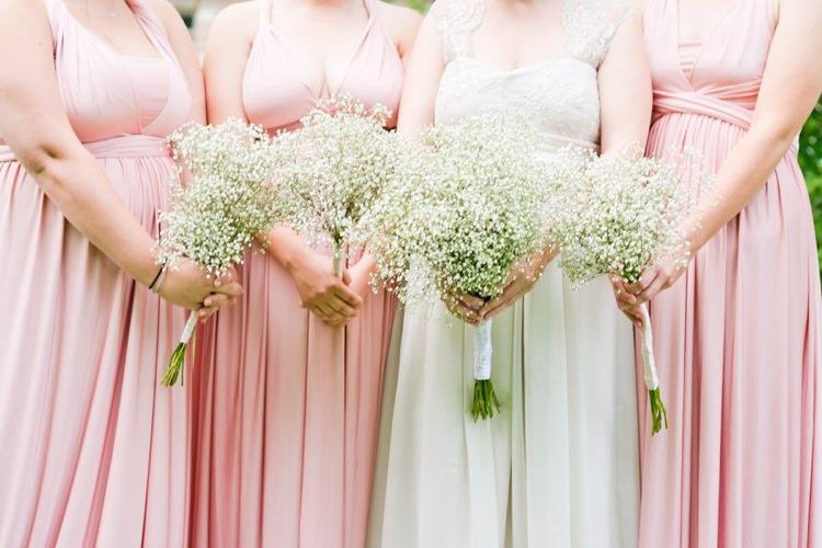 Gypsophila Baby Breath Gyp Bouquet Flowers Bridesmaid Bride Bridal Romantic Pink Grey Outdoor Wedding Ontario http://www.nicoleamanda.ca/