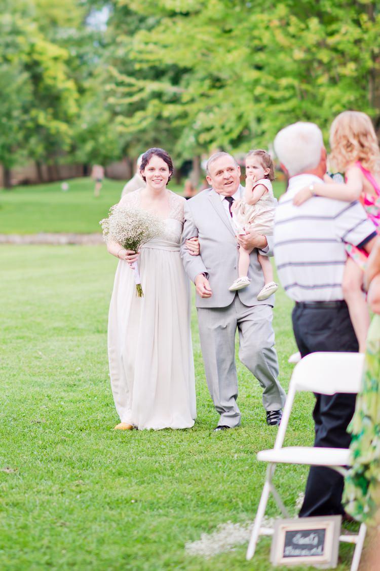 Romantic Pink Grey Outdoor Wedding Ontario http://www.nicoleamanda.ca/