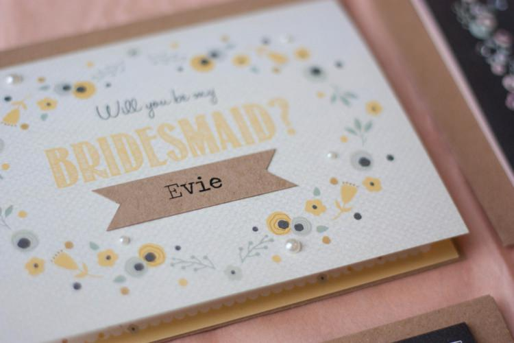 Will You Be My Bridesmaid Usher Best Man Groomsmen Flowergirl Page Boy Maid of Honour Wedding Cards Stationey norma&dorothy