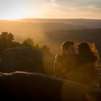 Stunning Sunset Ilkley Moor Engagement http://avenuewhitephotography.com/