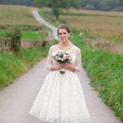 Vintage Inspired Navy Blue Country Farm Wedding