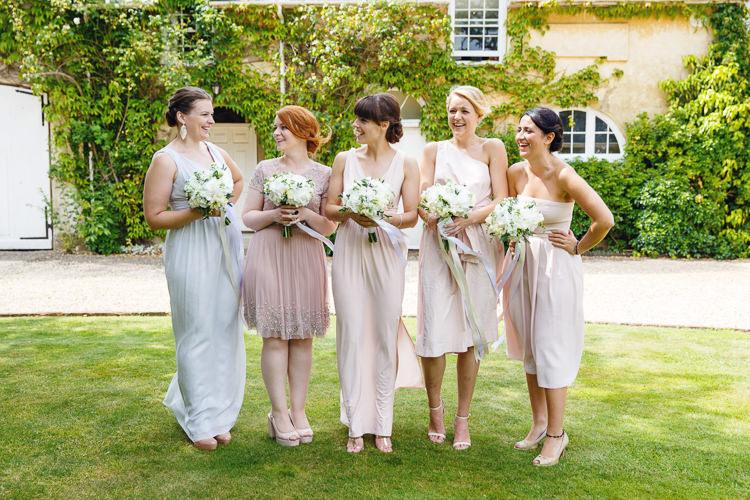 Mismatched Bridesmaids Soft Modern Vintage Garden Wedding http://kirstenmavric.co.uk/