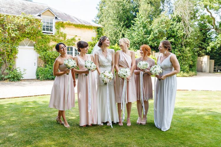 Ribbon Bouquets Flowers Bride Bridal Bridesmaids Mismatched Soft Modern Vintage Garden Wedding http://kirstenmavric.co.uk/