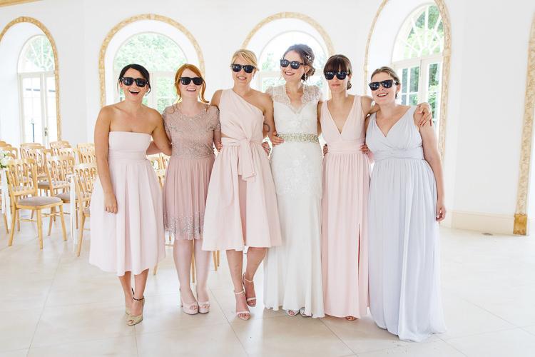Sunglasses Bride Bridesmaids Soft Modern Vintage Garden Wedding http://kirstenmavric.co.uk/