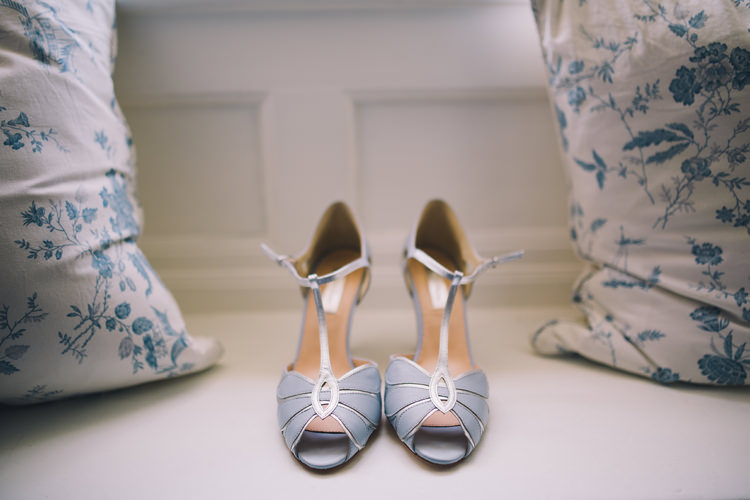 Rachel Simpson Blue Peep Toe Shoes Bride Bridal Beautiful Relaxed Summer Blush Wedding http://jenmarino.com/