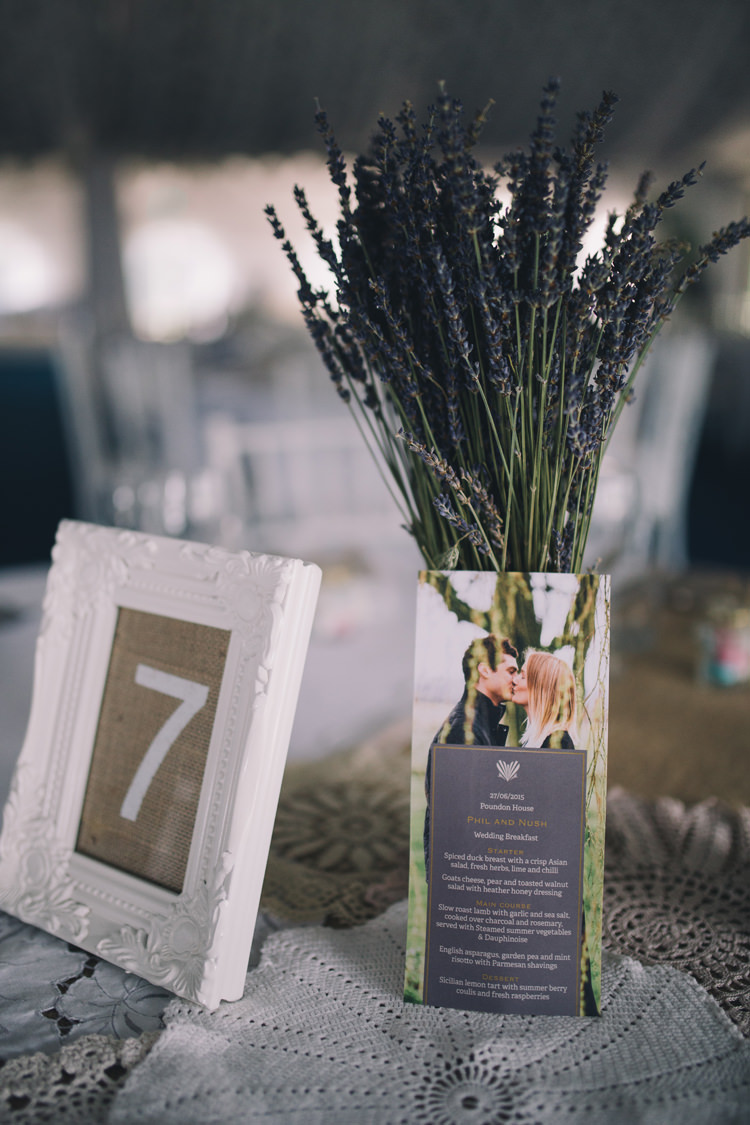 Hessian Lace Table Numbers Doilies Lavender Beautiful Relaxed Summer Blush Wedding http://jenmarino.com/