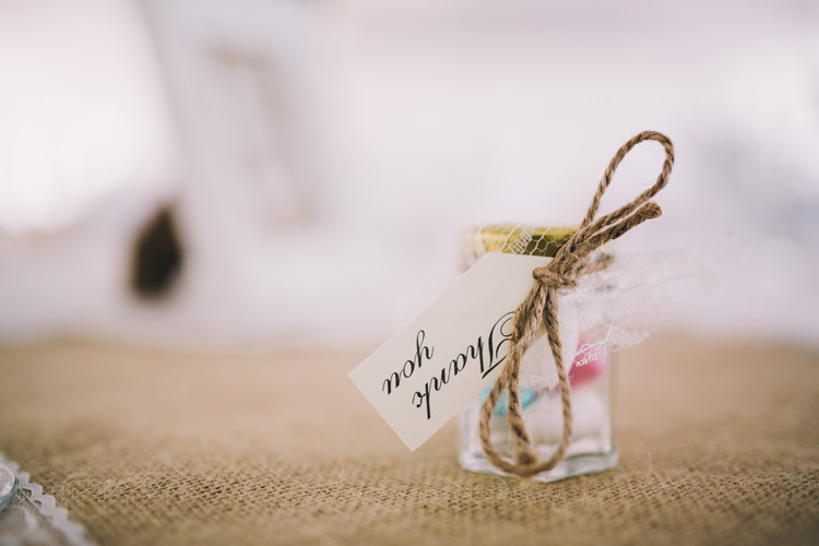 Favours Sweets Jars Beautiful Relaxed Summer Blush Wedding http://jenmarino.com/