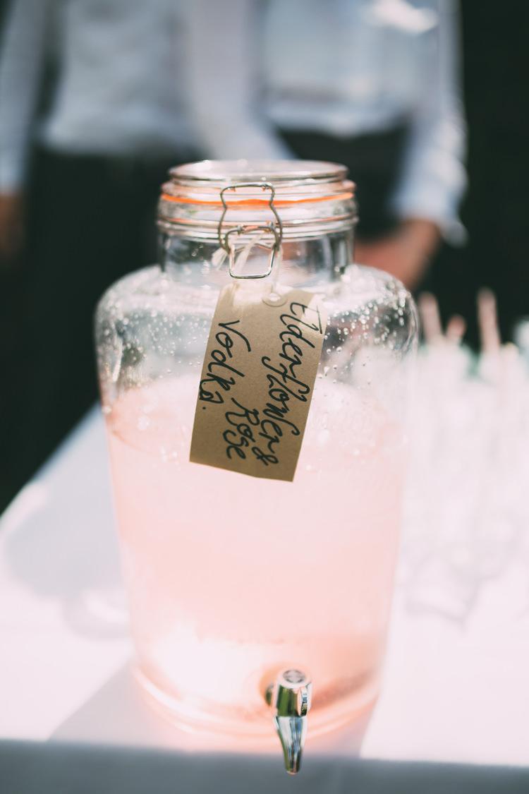 Drink Dispenser Beautiful Relaxed Summer Blush Wedding http://jenmarino.com/