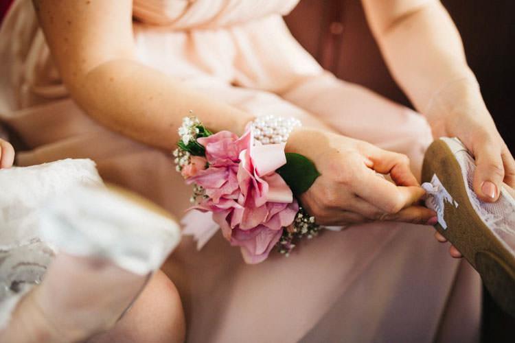 Bridesmaid Wrist Corsage Fun Personality Lego Wedding http://rachelryanphotography.co.uk/