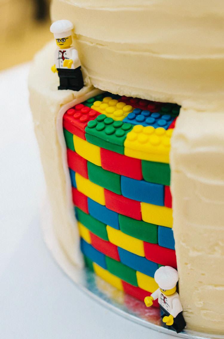 Cake Fun Personality Lego Wedding http://rachelryanphotography.co.uk/