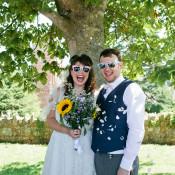 Cute & Crafty Budget Polka Dot Village Hall Wedding