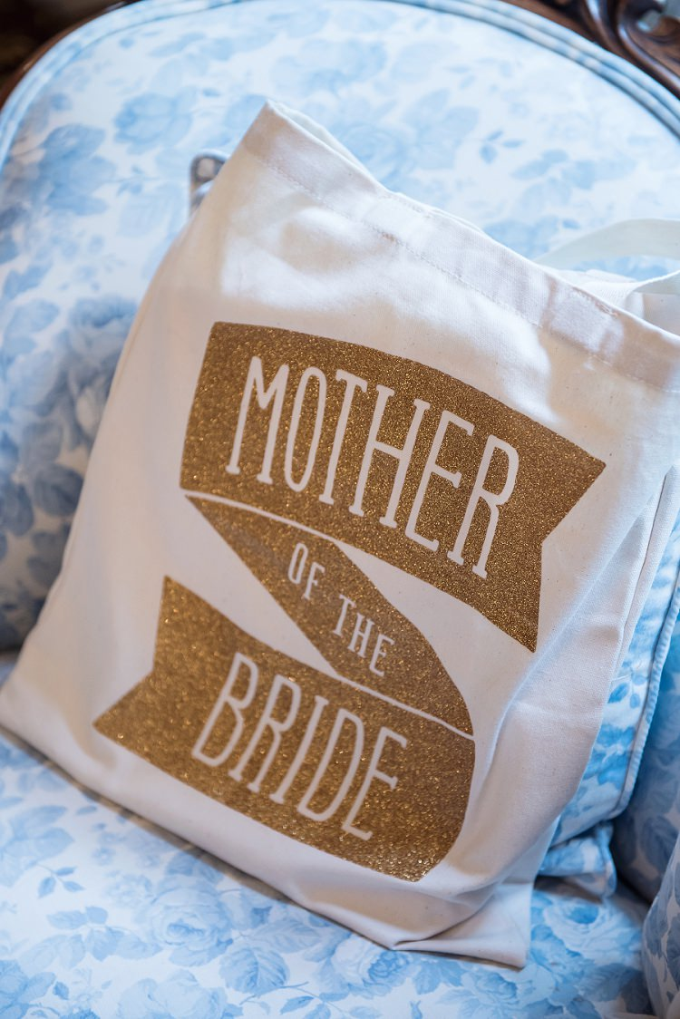 Mother of the Bride Tote Alphabet Bags Whimsical Boho Glamour Pink Blue Gold Wedding http://www.sarareeve.com/