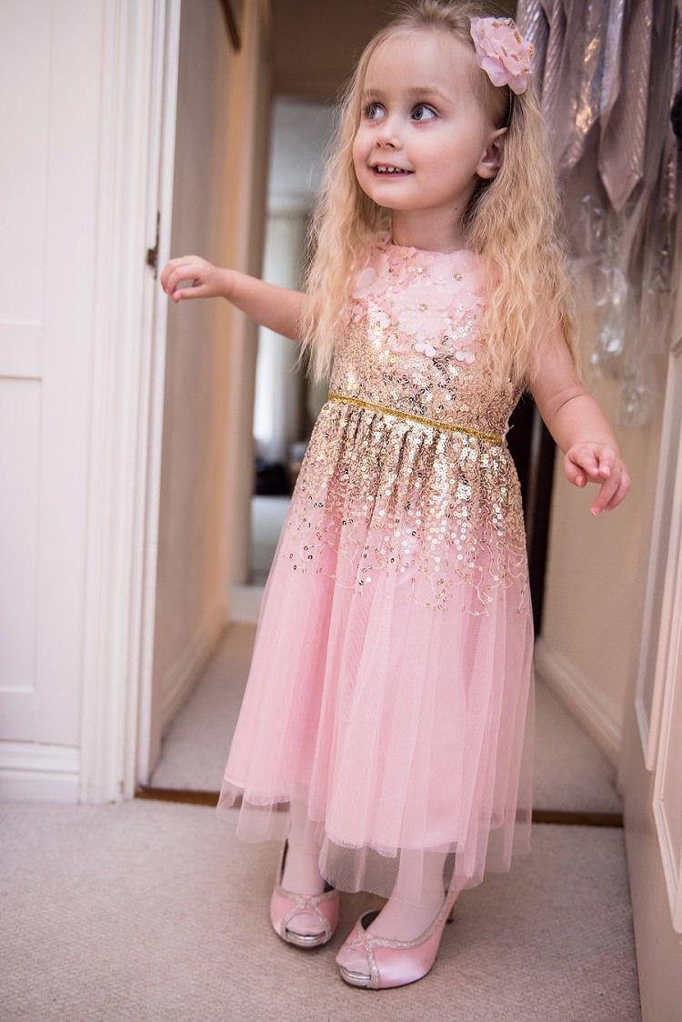 Sequin Flower Girl Dress Whimsical Boho Glamour Pink Blue Gold Wedding http://www.sarareeve.com/