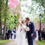 Whimsical Boho Glamour Pink Blue & Gold Wedding