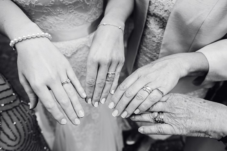 Engagement Rings Bands Whimsical Boho Glamour Pink Blue Gold Wedding http://www.sarareeve.com/