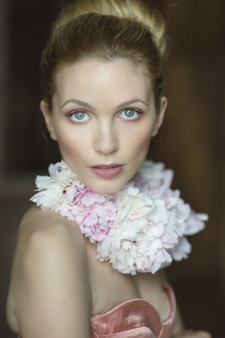 Flower Necklace Bride Bridal Opulent Parisian Pink Wedding Ideas http://careysheffield.com/