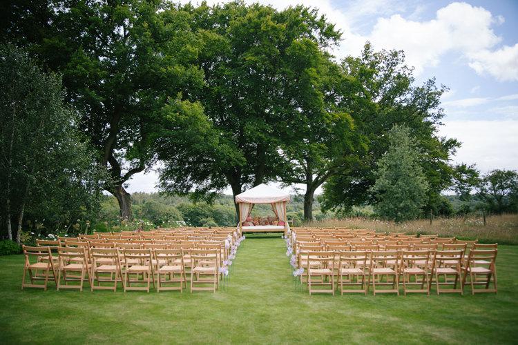 UK Ceremony Garden Humanist Field Bright DIY Wedding http://www.christyblanch.com/