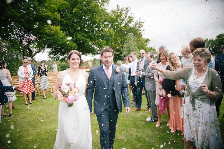 Confetti Throw Bride Groom Humanist Field Bright DIY Wedding http://www.christyblanch.com/