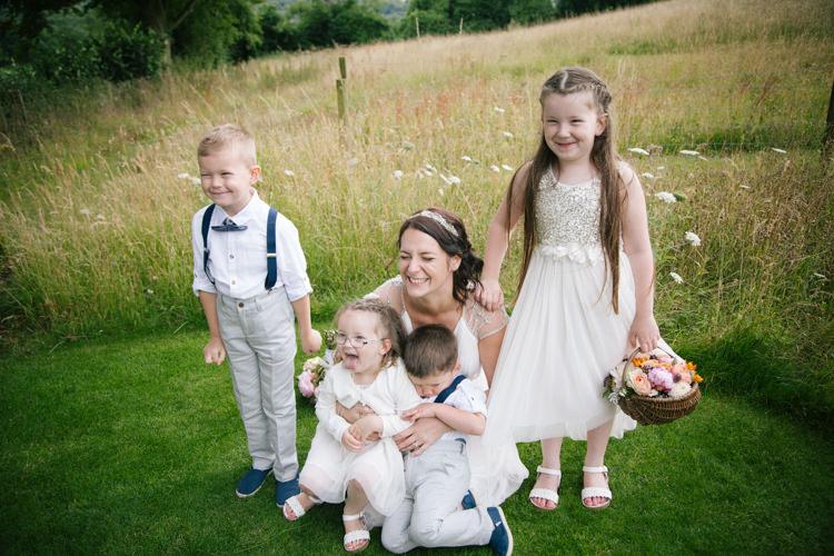 Flower Girls Page Boys Humanist Field Bright DIY Wedding http://www.christyblanch.com/
