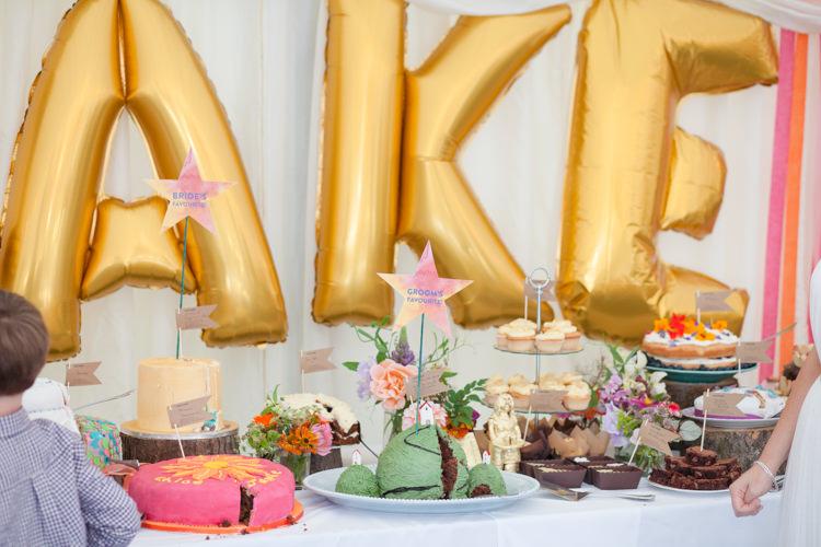 Cake Bake Off Humanist Field Bright DIY Wedding http://www.christyblanch.com/