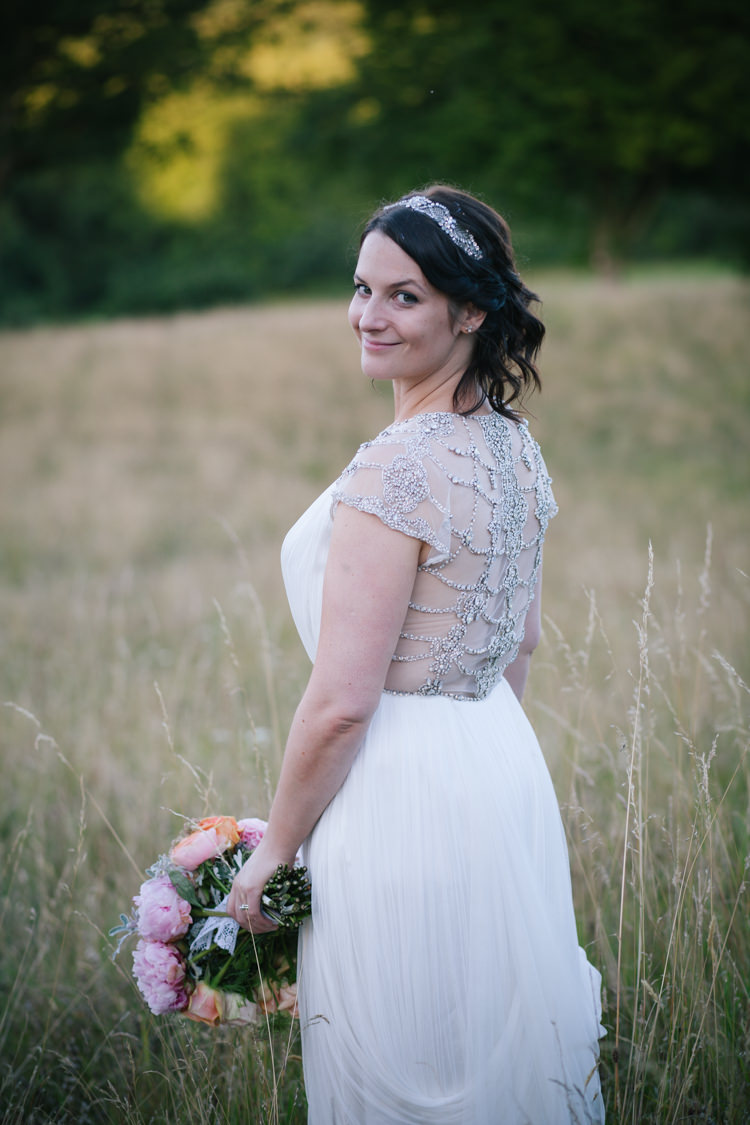 Catherine Deane Dress Bride Bridal Gown Sheer Back Humanist Field Bright DIY Wedding http://www.christyblanch.com/