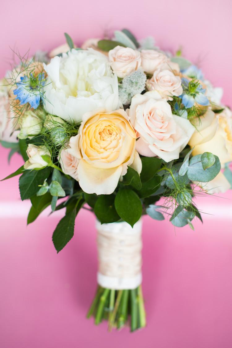 Peach Pale Pink Peony Rose Bouquet Flowers Bride Bridal Stylish Beach Mermaid Wonderland Wedding http://www.sourceimages.co.uk/