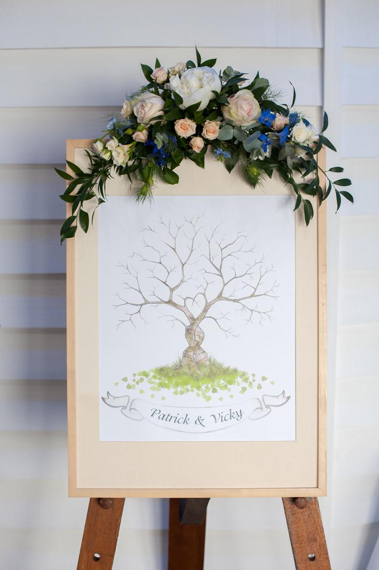 Finger Print Tree Guest Book Stylish Beach Mermaid Wonderland Wedding http://www.sourceimages.co.uk/