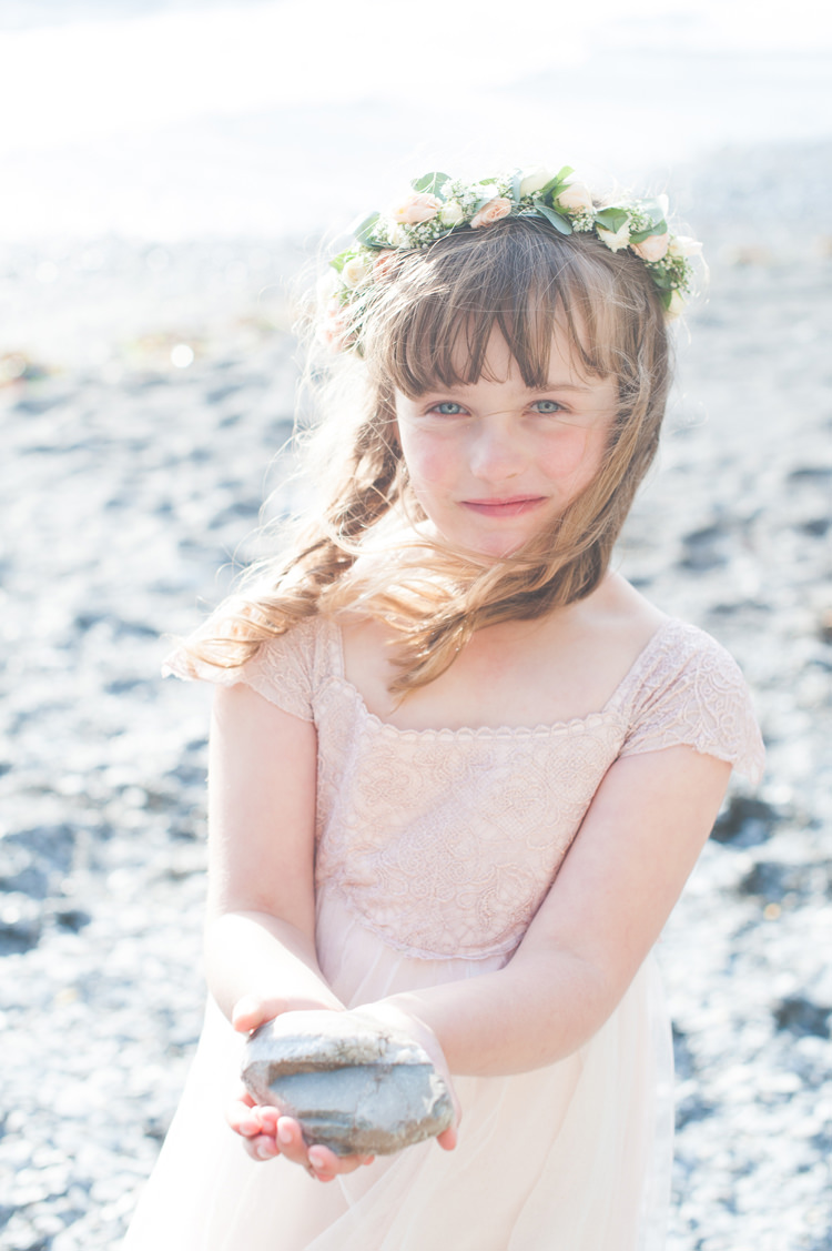 Peach Flower Girl Dress Stylish Beach Mermaid Wonderland Wedding http://www.sourceimages.co.uk/