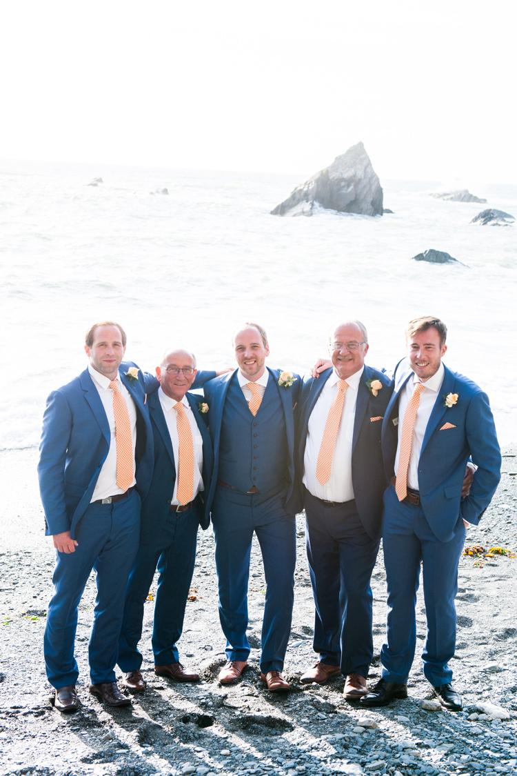 Blue Peach Groom Suit Reiss Stylish Beach Mermaid Wonderland Wedding http://www.sourceimages.co.uk/