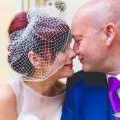 Alternative & Colourful Retro Purple Pub Budget Wedding