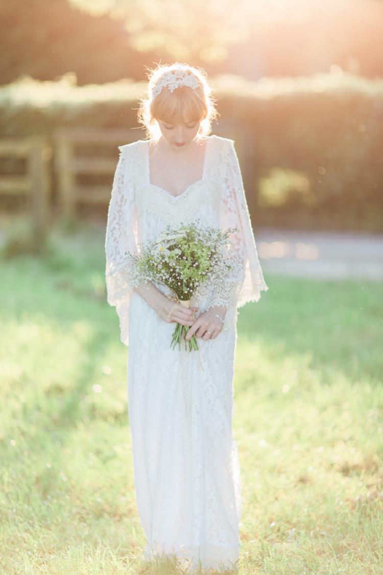 Dreamers Lovers Dress Gown Bride Bridal Sleeves Bohemian DIY Pub Garden Wedding http://www.bethanystanley.com/