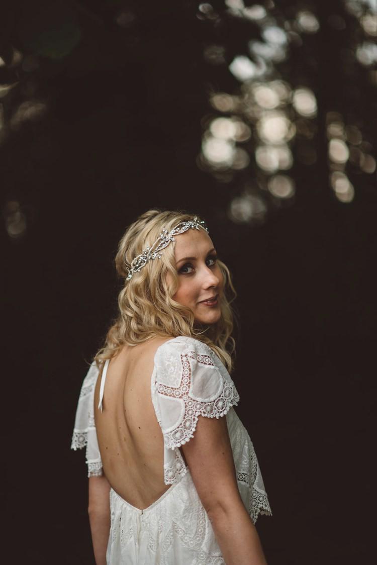 Eva Rue de Seine Dress Bride Bridal Sleeves Whimsical Boho Woodland Wedding http://katmervynphotography.com/