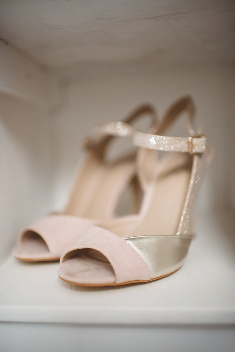 Nude Gold Shoes Bride Bridal Gitter Whimsical Boho Woodland Wedding http://katmervynphotography.com/