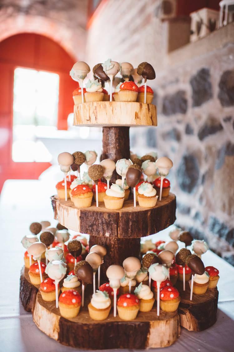 Cake Pops Toadstools Whimsical Boho Woodland Wedding http://katmervynphotography.com/