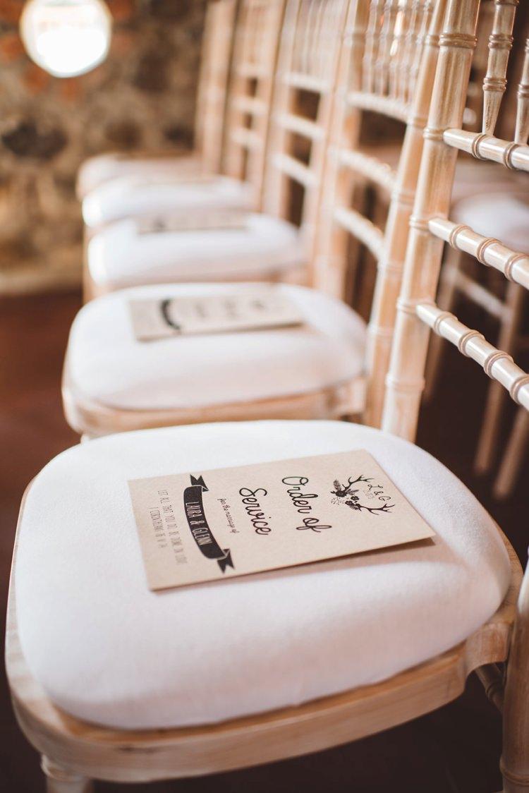 Order of Service Stationery Whimsical Boho Woodland Wedding http://katmervynphotography.com/