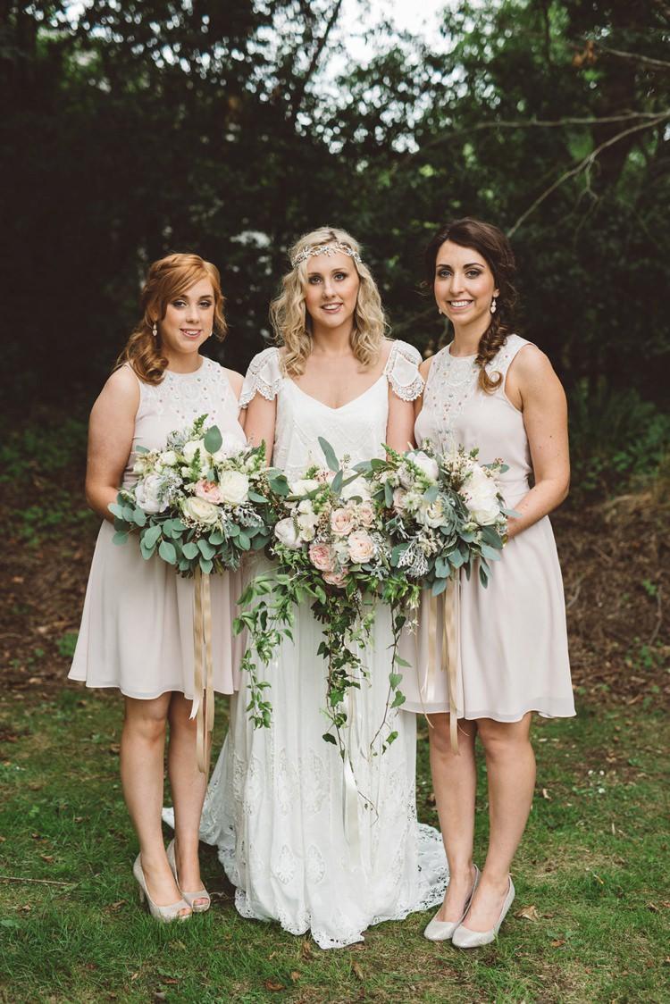 Nude Bridesmaid Dresses Short Whimsical Boho Woodland Wedding http://katmervynphotography.com/