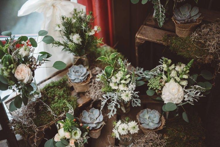 Succulents Moss Foliage Flowers Greenery Whimsical Boho Woodland Wedding http://katmervynphotography.com/