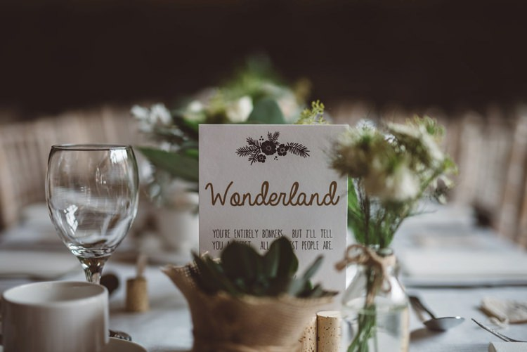 Table Name Whimsical Boho Woodland Wedding http://katmervynphotography.com/