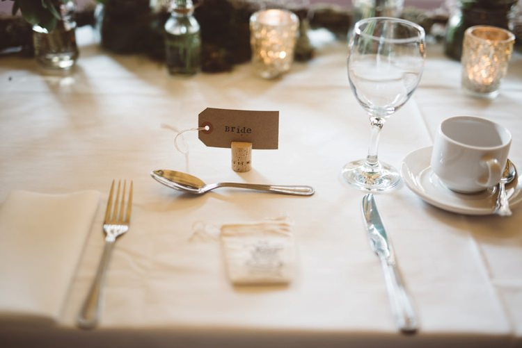 Cork Luggage Tag Place Name Whimsical Boho Woodland Wedding http://katmervynphotography.com/