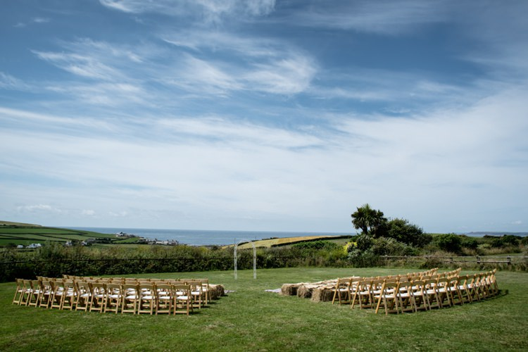 Outdoor Ceremony The Barn at South Milton Beautiful Country Barn Relaxed Family Wedding http://hollybobbins.com/